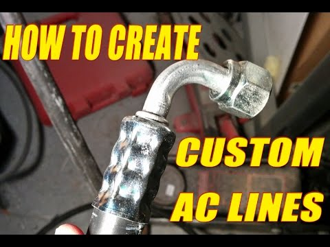 How To Make Custom A C Lines Using Mastercool Manual Hose