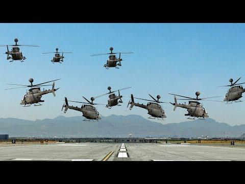 Massive US Helicopters Invasion for the Last Flight of Kiowa