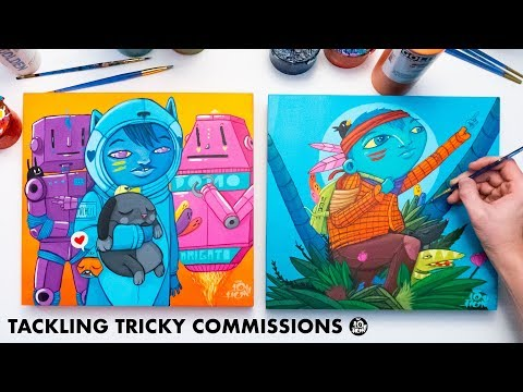 How I make Commissions - Acrylic Painting Full Process