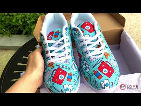 Phlebotomy-Themed Nursing Sneakers [UNBOXING]