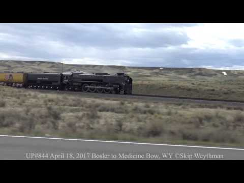 Union Pacific 844 Steam Power Only Run @ Medicine Bow