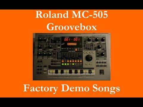Roland MC-505 - Démos internes - Factory Demo Songs