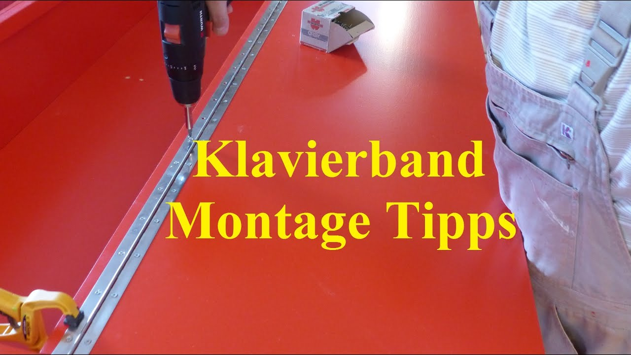 klavierband montage tipps youtube. Black Bedroom Furniture Sets. Home Design Ideas