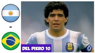 Argentina vs Brazil - WC 1990 - Round of 16 - Maradona Magic