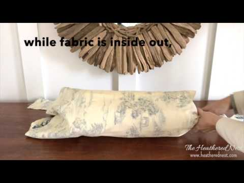 one minute diy bolster pillow a quick easy no sew pillow rh youtube com