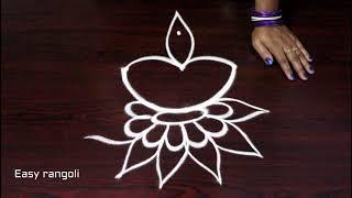 Diwali deepam kolam designs  rangoli art designs for diwali * simple muggulu  latest rangoli designs