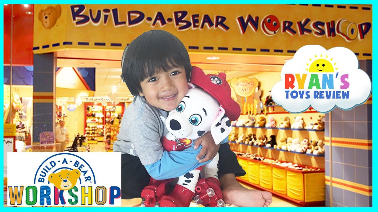 Ryan ToysReviews First Build A Bear Workshop Family Fun Paw