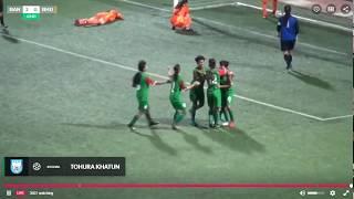 Bangladesh vs Bhutan (5-0) U-15 saff women's football 2018 1st half