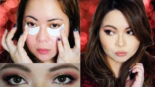 Holiday Red/Green Glitter Makeup 2017 (Pinay Makeup Tutorial)