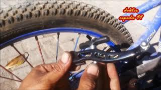 Cara memasang dan menyetel rem sepeda model v break,,,,semangat ber...