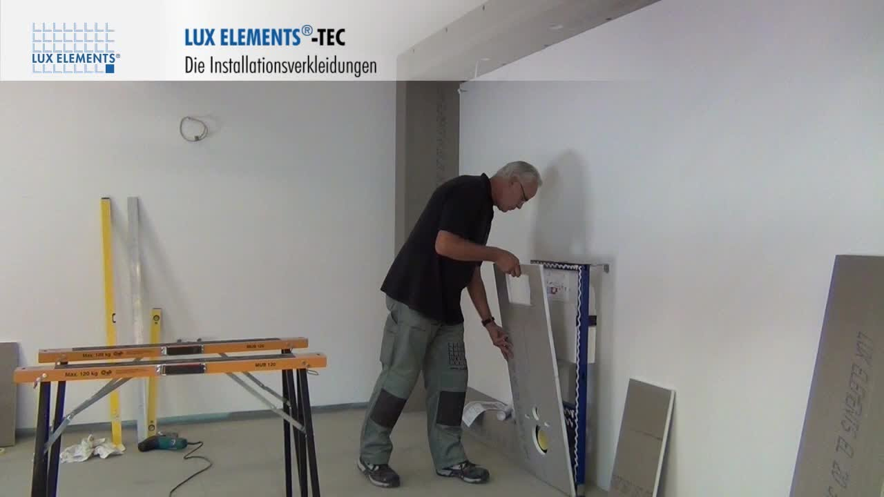 lux elements montage verkleidung von vorwandinstallationen tec vwd youtube. Black Bedroom Furniture Sets. Home Design Ideas
