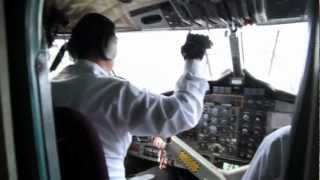 Landing at Lukla Airport Nepal - One of the most dangerous Airports in the world