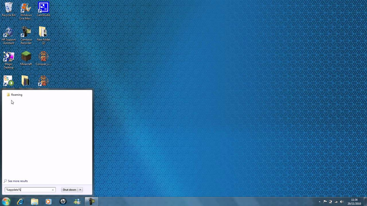 how to get to your appdata folder from yournamehere.dell5sfvnx1