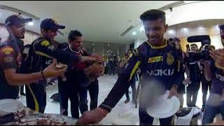TEAM CELEBRATION 360 (VIDEO)   KKR vs RR   ELIMINATOR - VIVO IPL 2018
