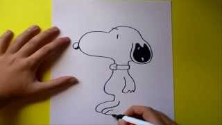 Como dibujar a snoopy paso a paso | How to draw snoopy
