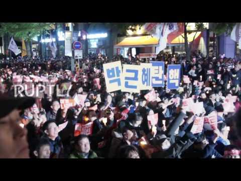 South Korea: Thousands urge President Park Geun-hye to ...