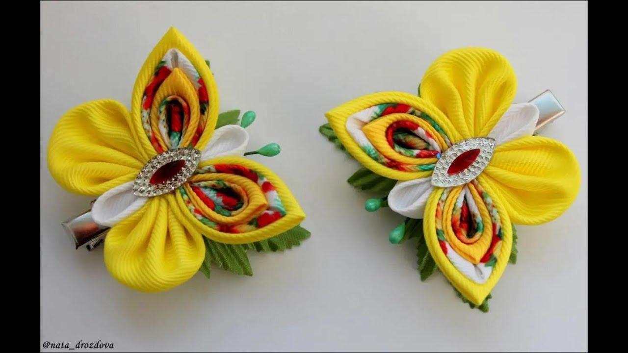 Заколки бабочки текстильная шерсть
