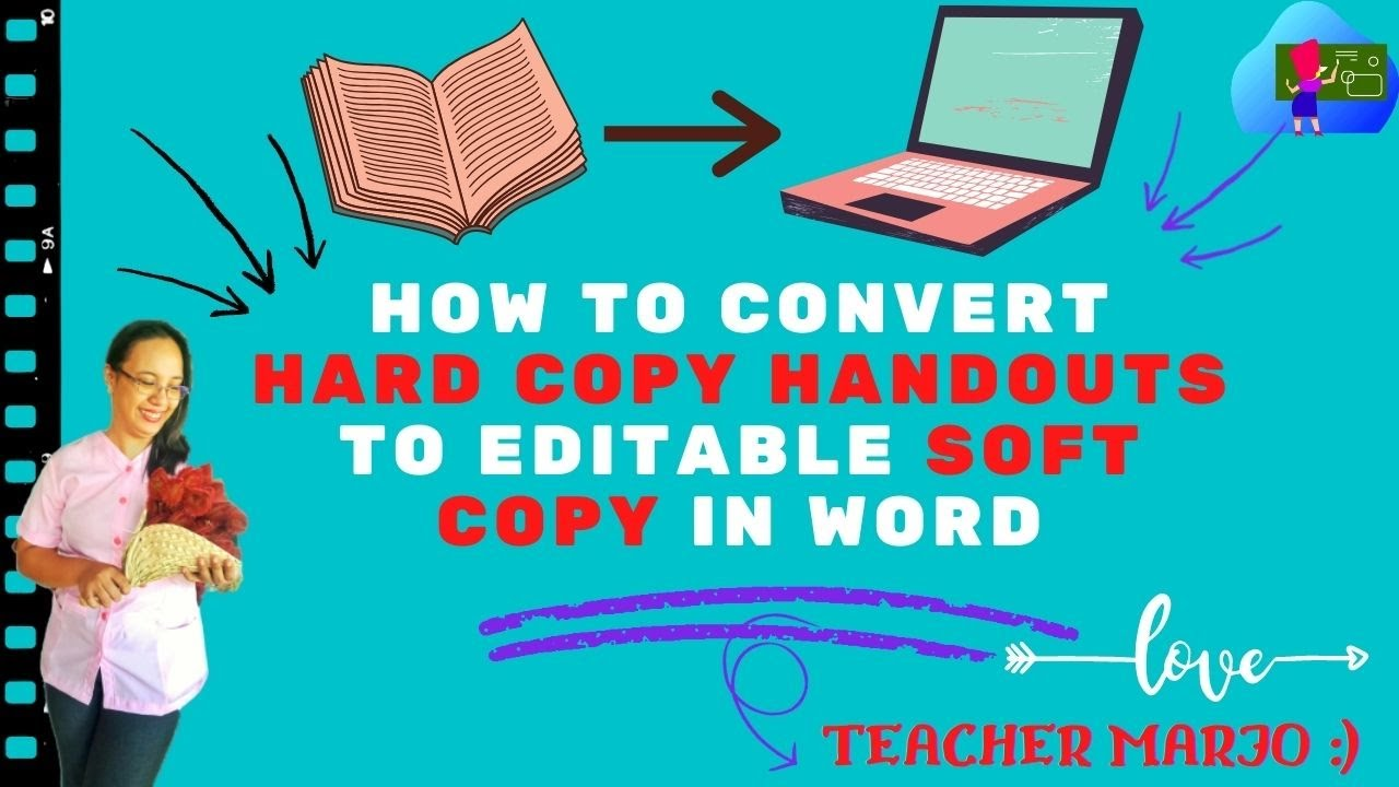 Download How to convert hard copy handouts to editable soft copy in word