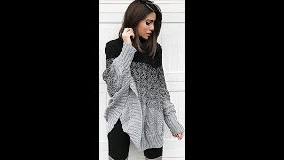Модный Джемпер Спицами - 2019 / Fashionable Cardigan With Knitting Needles / Strickjacke