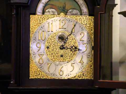 Tiffany Antique 1910 Tall Case Grandfather Clock 5 Tube