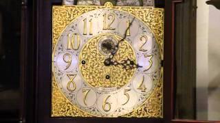 Tiffany Antique 1910 Tall Case Grandfather Clock, 5 Tube Chime J-c3322