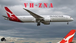 Qantas Airline First 787-9 dreamliner (VH-ZNA) First Flight RTO+Brake test+high speed taxi @PAE