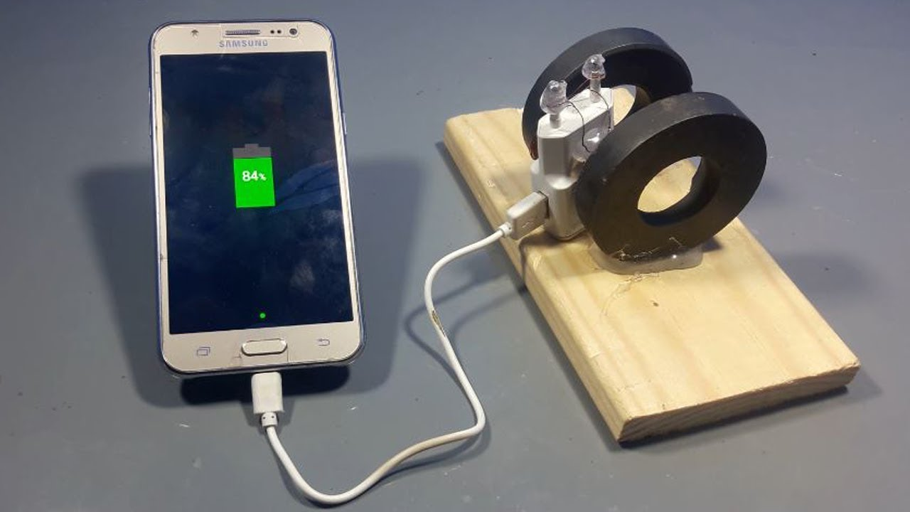 How To Make Free Energy Mobile Phone Charger With Magnets