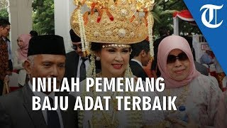 Dapat Hadiah Sepeda, 3 Peserta Berpakaian Adat Terbaik saat Upacara HUT Ke-74 RI di Istana Negara