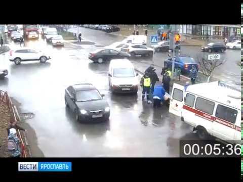 В Заволжском районе Ярославля автомобиль сбил женщину