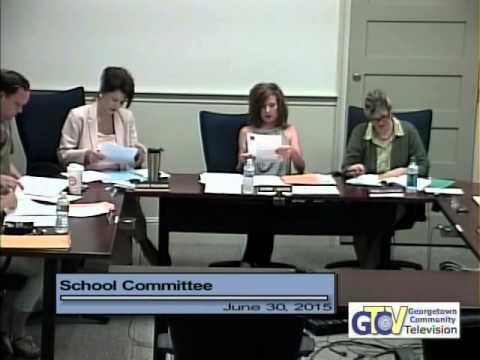 4034 1 School Committee Meeting 7 30 15