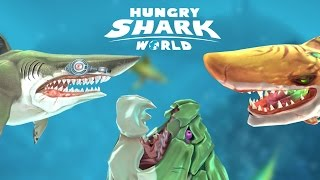 ALL !! (Special) SHARKS UNLOCKED -Hungry Shark World - New Shark Update/Gameplay- New Secret Area!