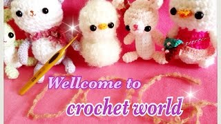 Hello! Wellcome to my crochet room♪【crochet world #1】ごあいさつ♪かぎ針編みの作品♪happyknittingmama/ハピママ