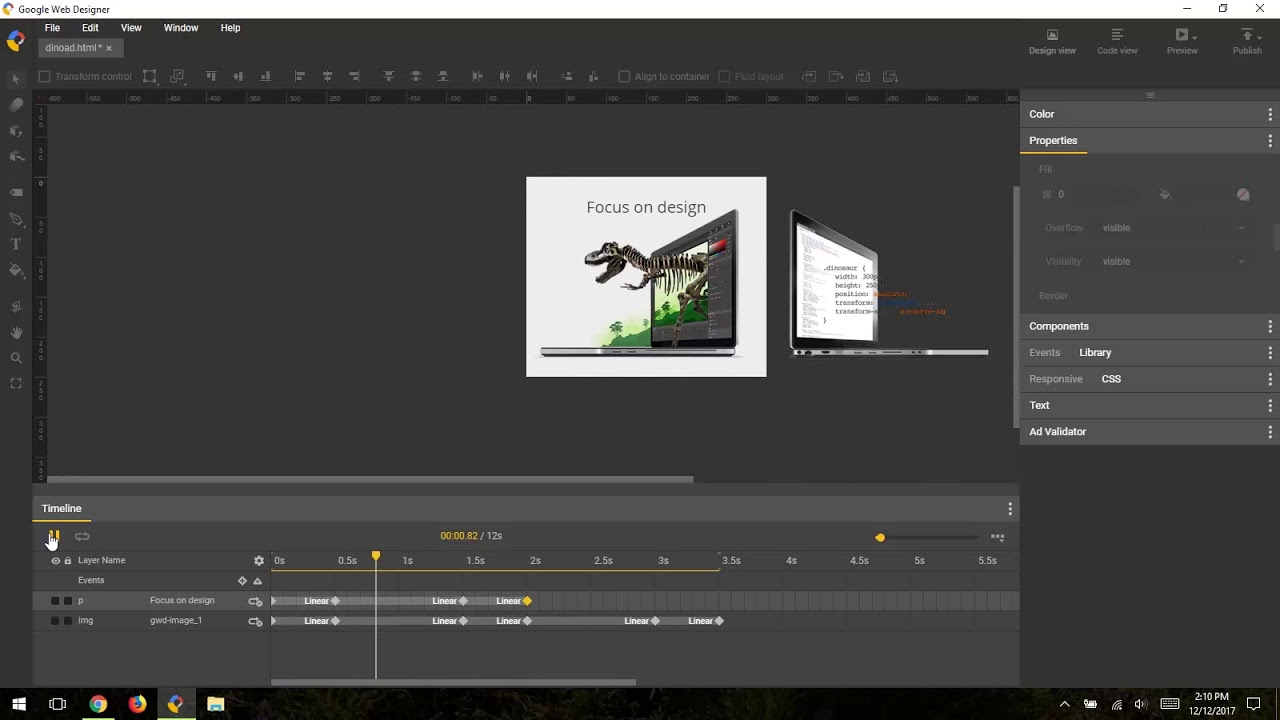 Timeline Advanced Mode Overview Google Web Designer Youtube