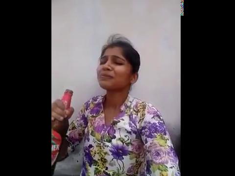 Kannada Village girl drinking beer