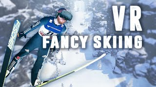 Fancy Skiing VR: Ski down a slope and avoid obstacles in virtual reality with the HTC Vive
