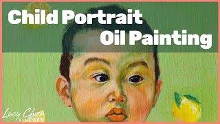 Painting Children Portrait | How to Paint a Child Portrait in Oil