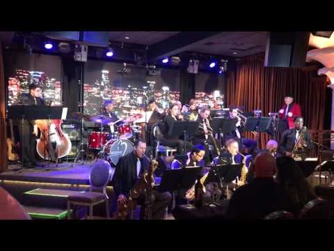 Peter Myers Orchestra performing Try a Little Tenderness Ricky Woodard on tenor sax at Bogies