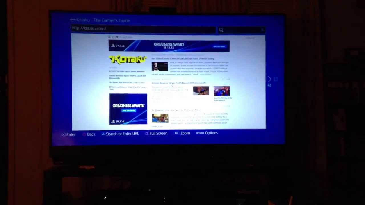 Playstation 4 Internet Browser - YouTube