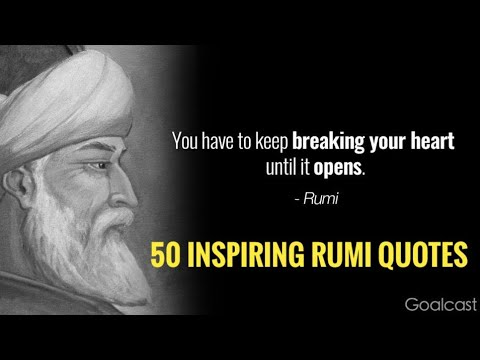 Rumi Quotes- 50 Most Inspiring Quotes|Rumi History|1080p|CC
