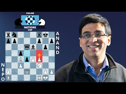 Anand's World Championship Prep Blows Nepo Off The Board In 17 Moves | Online Nations Cup
