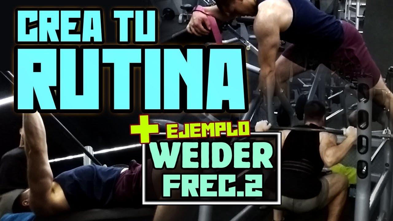 rutina gimnasio hombre 2 dias
