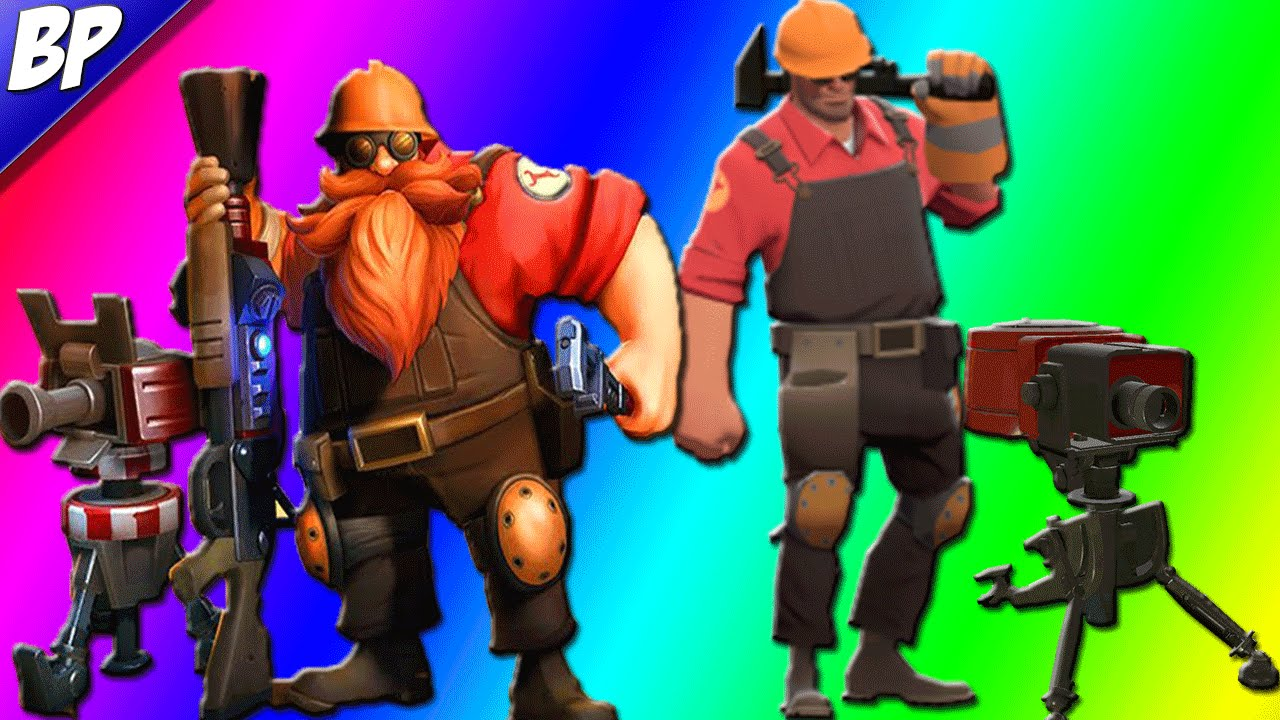 Team Fortress 2 In Paladins Barik Tf2 Engineer Skin Youtube