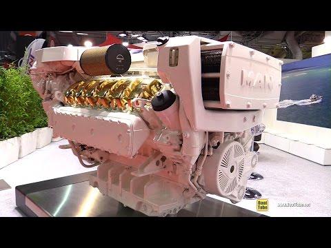 2016 Man V12 1900 Diesel Marine Engine - Walkaround - 2015 Salon Nautique de Paris