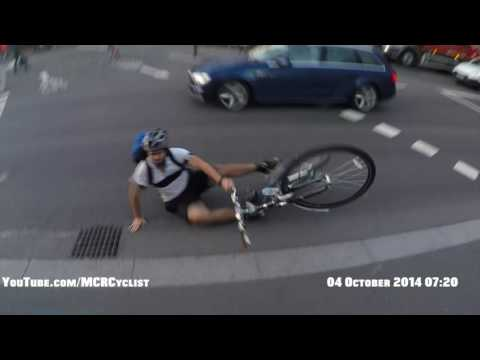 RLJ Cyclist Crashes Into Fellow Cyclist And Squeals - #London