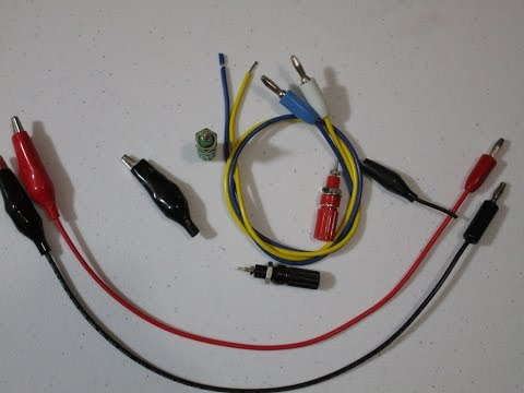 R&D Quickie #0 How to make your own test leads.
