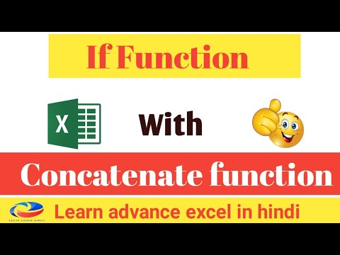 How to use if and concatenate function together in excel || Apply If function with Concatenate