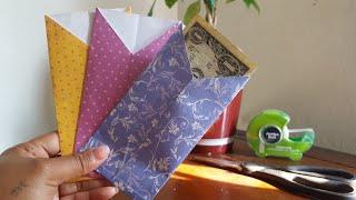 How to make paper cash envelopes   DIY  