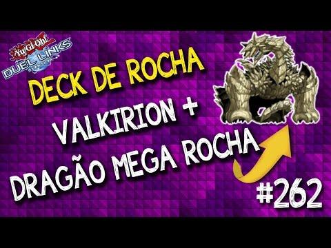 Testando deck de Rocha com Dragão mega rocha + Valkyrion. Mostro o deck e faço gameplay