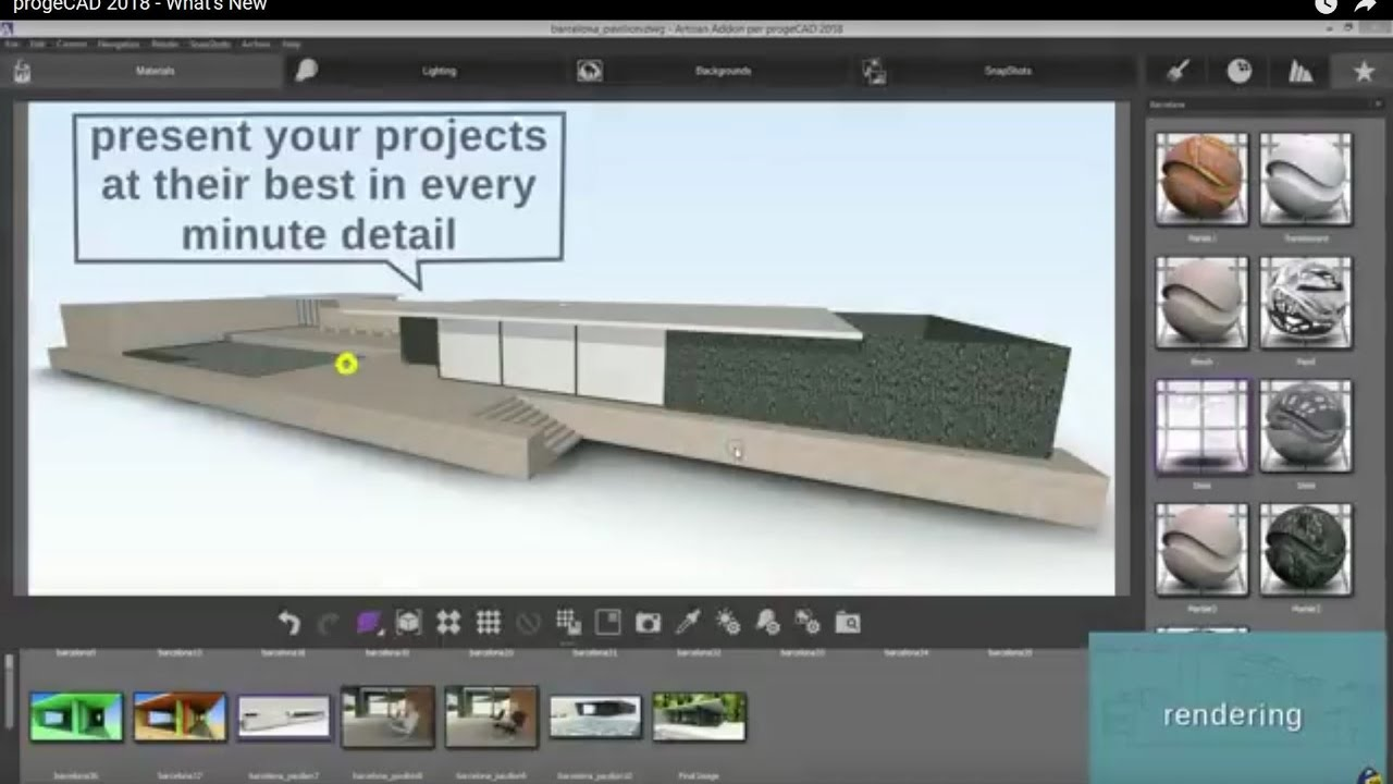 progeCAD 2018 Features -  video