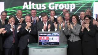 Altus Group (TSX:AIF) opens Toronto Stock Exchange, April 27, 2015.